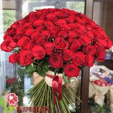 Букет «Язджемал» из 101 красной розы (Иран)