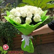 """Букет """"Акгюль"""" из 29 белоснежных роз (Иран)"""