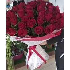 Букет «Амур» из 51 красной розы (Иран)